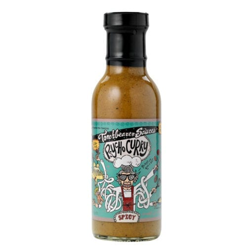 Psycho Curry Bottle by Torchbearer Sauces