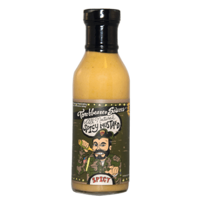 Natural Spicy Mustard Bottle