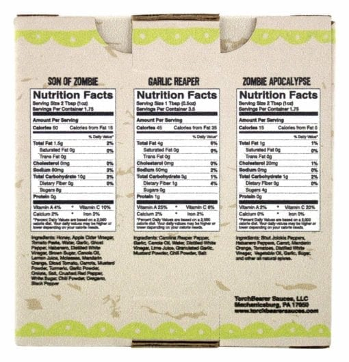 Best Sellers 3-Pack - Nutrition Facts