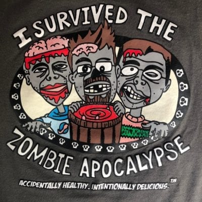 Cartoon zombie Apocalypse Shirt close-up